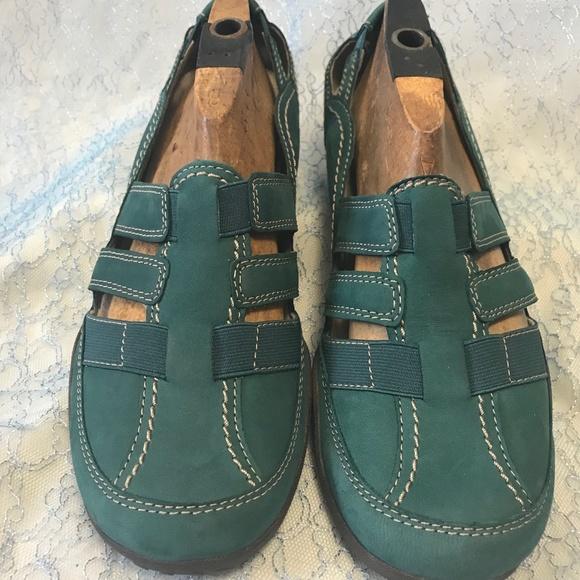 68e60bd6d Clarks Shoes - Clarks Haley Stork 26117062 Teal Nubuck Size 12